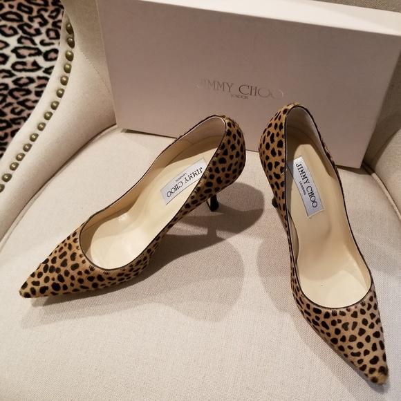 leopard skin high heels